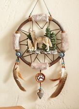 Wolf Pine Trees Dreamcatcher Native American Wall Art Hanging Southwestern Decor