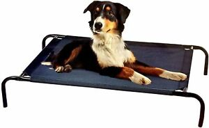RAISED CANVAS PET BED LARGE ELEVATED DOG CAT LOUNGER INDOOR OUTDOOR COT STURDY