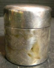Antique Engraved SM & Co. Sterling Silver & Glass Travel Medicine Cup Excellent