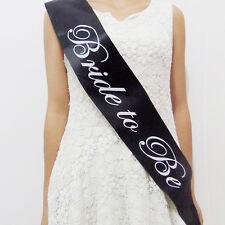 Bride to be Lettering Sash Girls Bachelorette Hen Night Party Shoulder Strap