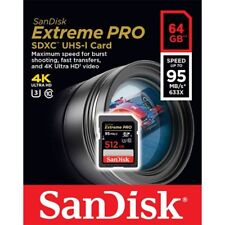 Sandisk 64GB Extreme Pro FS U2 4K HD SD card for Nikon D3400 D3300 D3200 D3100