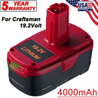 4000mAh Lithium for Craftsman 19.2V C3 Battery XCP 130279005 1323903 5166 PP2011