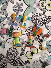 Talking Handy Manny figures and Tools.  Could be used as cake toppers.