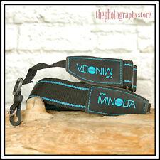 FREE UK POST For Minolta SLR Black Blue Wide Camera strap 35mm film and Digital
