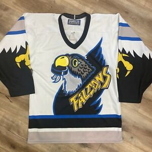 SPRINGFIELD FALCONS AHL HOCKEY VINTAGE 90s BAUER MINOR LEAGUE JERSEY ADULT SMALL