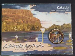 AU - 2012 - KAKADU - ONE DOLLAR COLOUR CARDED COIN