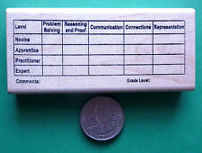 CCSS Math, Common Core Teacher's Wood Mounted Rubber Stamp