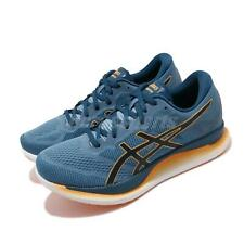 Asics GlideRide Grey Floss Blue Men GUIDESOLE Road Running Shoes 1011A817-400