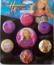 Hannah Montana - Secret Star Anstecker Button verschiedene 7 Stück bunt