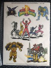 Lot Of 10 Vint. 1994 Mighty Morphin Power Rangers Resusable Window Cling Decals!