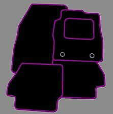 MINI COOPER 2002-2006 TAILORED CAR FLOOR MATS BLACK CARPET WITH PURPLE TRIM