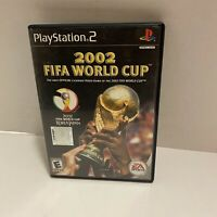 2002 FIFA World Cup (Sony PlayStation 2 PS2, 2002) Complete CIB Black Label F/S
