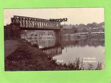 Railway Bridge Brotherton Nr Pontefract RP pc used 1907 M & C0 K Ref B556