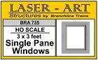 "Branchline # 735  Windows - Laser-Art  Single-Pane, 36 x 36"" pkg(12)  HO MIB"