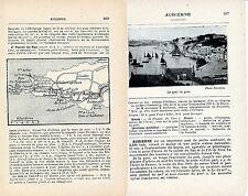 29 Audierne 1921 photo, carte + guide (4 p.) Pointe du Raz St-Tugen Pont-Croix