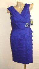 NEW Jessica Howard Cocktail Royal Blue V Neck Empire Womens Dress Sz 10