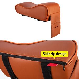 PU Leather Car Armrest Mat Pad Cover Center Console Box Memory Cotton Cushion
