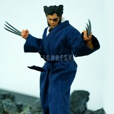 "1/12 Scale Blue Japanese Kimono Suit for 6"" Figure One:12 Wolverine Logan X-men"
