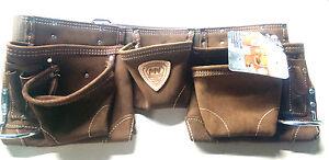 McGuire Nicholas 11 Pocket Handyman Apron in Brown Suede Leather *NEW* 495-1
