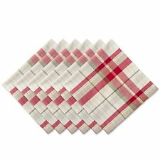 "DII Oversized 20x20"" Cotton Napkins, Pack of 6, Orchard Plaid - Perfect for Dinn"