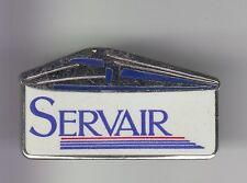 RARE PINS PIN'S .. TRAIN RAILWAYS SNCF TGV SERVAIR WAGON RESTAURANT ARGENT ~DG