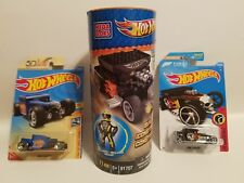 NEW Lego compatable Mega Bloks Hot Wheels Bone Shaker Set, Black Forza & 50th