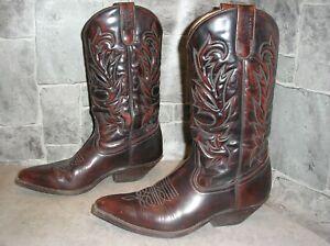 SANCHO Cowgirlstiefel, Cowboystiefel, Westernstiefel, Gr. 41, echtes Leder, Unis