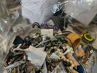 HUGE 9+ LB Craft Parts Jewelry Lot Necklace Bracelet Watch Ring VTG to Now