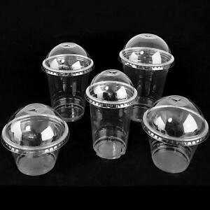 Wholesale Disposable Clear Milkshake Cups with Dome Lids - PREMIUM QUALITY!