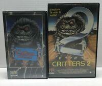 COLECCION PELICULAS CRITTERS 1 Y 2 VHS MIEDO  LOTE ENVÍO 24 HORAS GRATIS