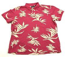 Vintage Chaps Polo Taille Extra Large XL Contraste Rose Hawaïen Texturé Adulte