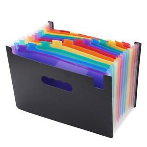 Multi Layer Pockets Expanding File Folder Large Space A4 Filing Folders Box C