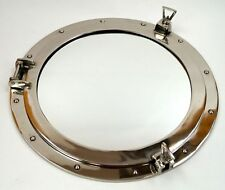 "20"" Porthole Mirror ~ Chrome ~ Nautical Maritime Decor ~ Large Ship Cabin Window"