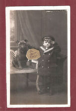 Rp stuffed ? Taxidermy ? Dog British Bulldog bull dog & boy child Naval Uniform