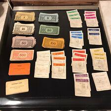 Vintage Monopoly Spare Bundle - Title Deeds, Cards And Money See Description