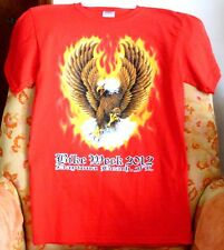 """BIKE WEEK 2012, DAYTONA BCH"" T-SHIRT>GILDAN ULTRA COTTON>SM>NEW>FREE U.S. SHIPP"