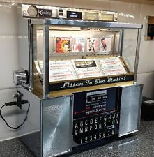 More details for 1960s seeburg consolette wallbox jukebox, converted to mp3