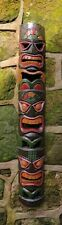 Tiki mask 3 Faced wall hanging hand painted carved wall mask 100cm Fair trade