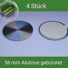 56 mm Linse Alu gebürstet Emblem Aluett Nabenkappen