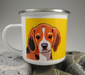 Beagle enamel single mug