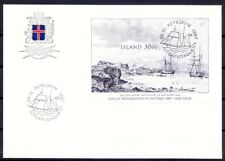 Iceland 1987 SS on Cover, Ships & Boats, Paintings