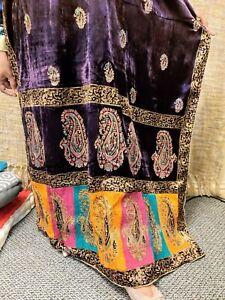 Designer New 2020 pakistani Velvet Shawl Block Print Multi Coloured festive gift