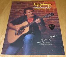 Epiphone Acoustic Guitar Catalog 1989 Parts Flyer Dan Toler Allman Gibson Pick