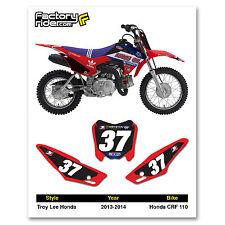 2013 - 2016 HONDA CRF 110 Dirt Bike Graphics Motocross Custom Number Plates TLD