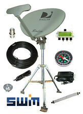 DirecTV SWM SL5S Portable Satellite Dish RV Kit Camping Tailgating Tripod SWiM