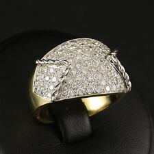 Massiver Designer Brillant Ring mit ca. 2,20 ct.   13,1g 750/- Gelb-/Weißgold