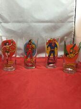 Vintage 1976 Pepsi Super Series Superman, Shazam, Wonder Woman, Aquaman. Glasses
