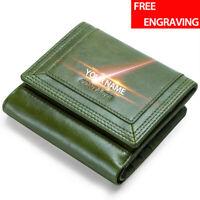 Genuine Leather Wallet For Women's Ladies Card Holder RFID Blocking Pocket Purse
