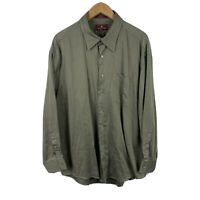 Nordstorm Mens Button Up Shirt Size 2XL Olive Green Long Sleeve