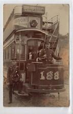 More details for picture postcard of bristol tram - hanham old market to bushy park (c35476)